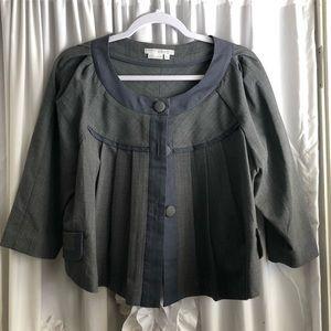 Blue and gray fashion blazer